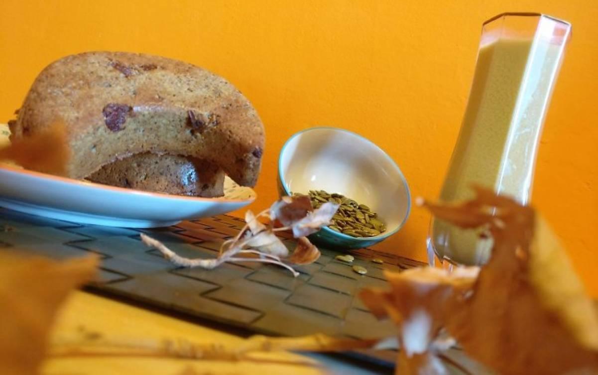 Colazione d'autunno con i semi di zucca