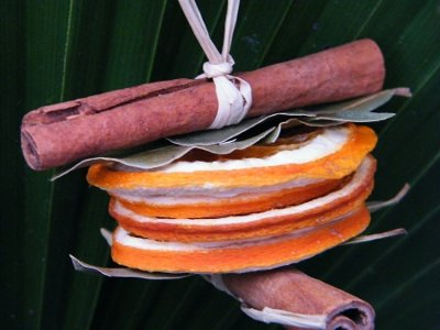 Arancia e cannella per ghirlanda